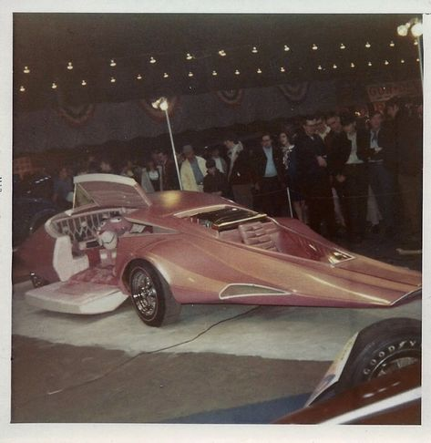 The Pink Panther show car, from 1969. Scanned from my Dad's old photos.