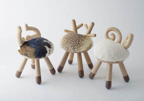 Funny Chairs with Horns and Hooves by Kamina & C (With