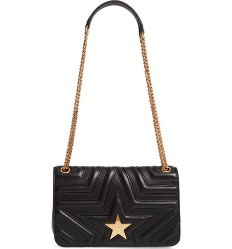 9cefb938ca  p Signature Stella McCartney stars are pieced and quilted right into the  buttery-soft synthetic leather of this structured