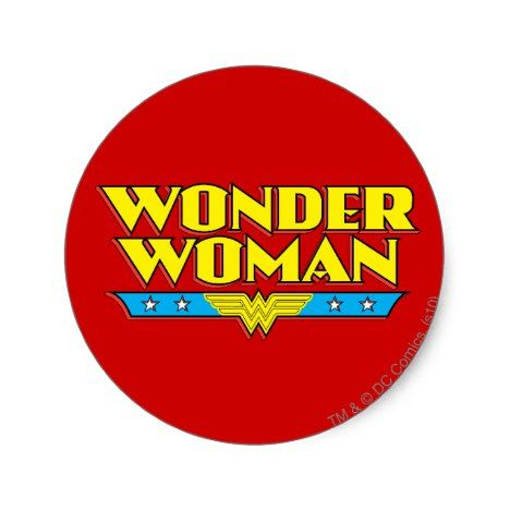 Wonder Woman Name And Logo Classic Round Sticker Zazzle Com