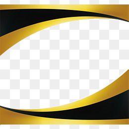 Black Gold Wave Border Certificate Design Template Poster Background Design Gold Waves