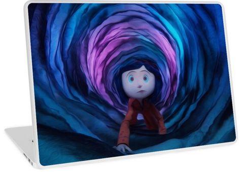 Coraline Tunnel Laptop Skin by wbfm