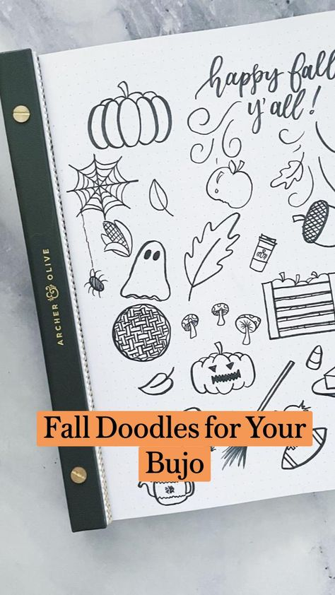 Fall Doodles for Your Bujo