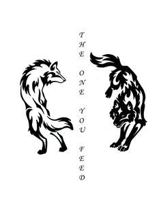 b4f63800f fighting wolves tattoo - Google Search