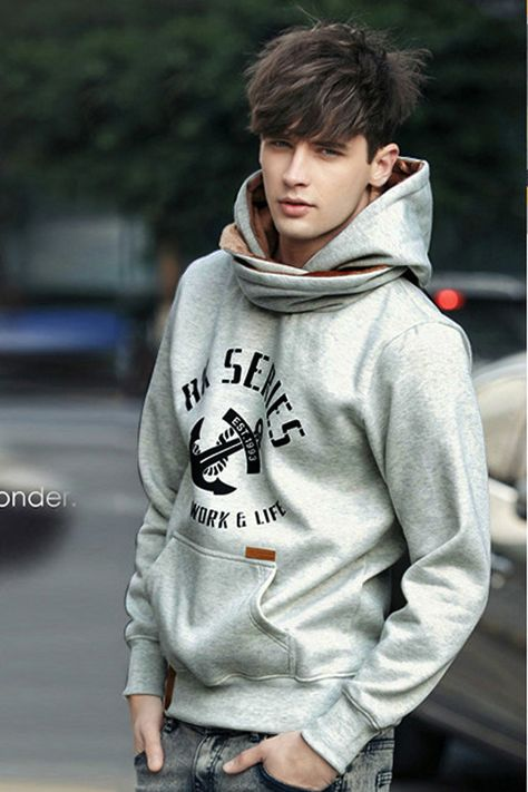 Scarf Style Cool Man Fashion Hoodie - Men's style