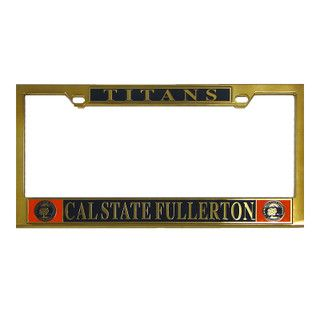 Csuf Seal Brass License Plate Frame Titan Pride License Plate Frames Brass Frame