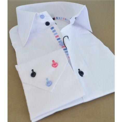 La Chemise Le Louvre #Coloured #buttons #shirt at sale Special ...