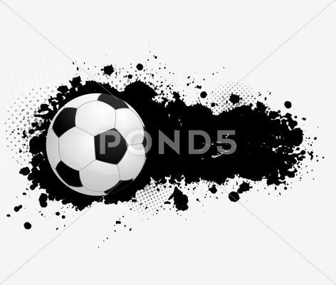 Grunge Banner With Soccer Ball Stock Illustration Ad Soccer Banner Grunge Illustration Illustration Grunge Stock Illustration