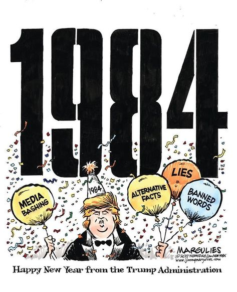 Happy New Year From The Trump Administration It S 1984 Funny
