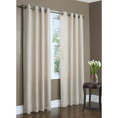 Zipcode Design Irene Solid Color Semi Sheer Thermal Grommet Single