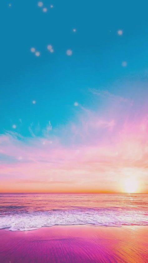 Blue sky, sunset, scenery, ocean, beautiful scenery fairyland