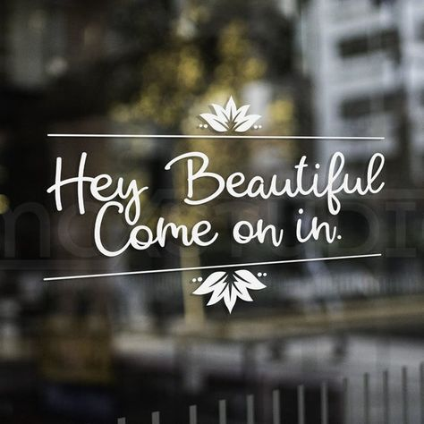 Walk-Ins Welcome   Salon Hours   Nail Tech Decal   Nail Salon   Hair Salon   Salon Decals   Hair Stylist   Clothing Boutique Hey Beautiful, Come on in. Great for any salon or clothing boutique. If you LOVE this, you may find this next listing perfect!