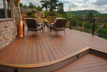 Image result for composite deck design ideas | Backyard ...