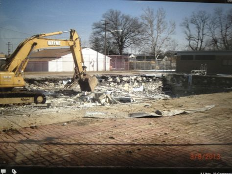 NCH Pool is demolished 3/13/13 after 62 years of fun!!!
