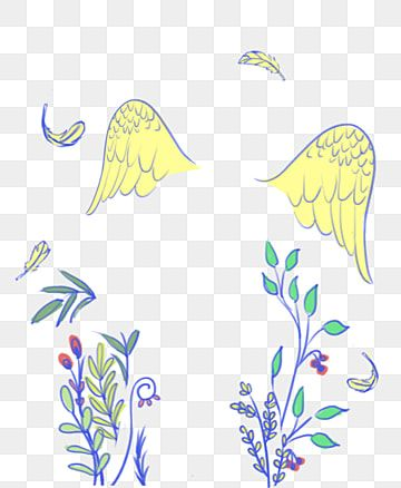 Angel Wings Cute Hand Drawn Plant Vine Childrens Day Childlike Hand Drawing Graduation Season Tourism Let The Dream Fly Png Transparent Clipart Image And Psd Draw Plant Drawings Plant Vines