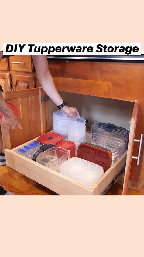 DIY Tupperware Storage