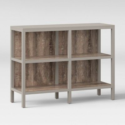36 2 Hadley Horizontal Bookcase Gray Threshold Horizontal