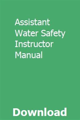 Pdf] download water safety instructors manual.