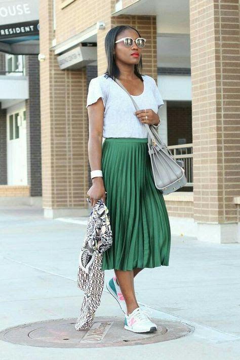 84cb6621c faldas plisadas, moda discreta y más Pines populares en Pinterest ...