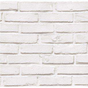 Papier Peint Papier Brique Loft Blanc Leroy Merlin 990 Le