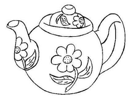 Pin By Emily Pinzon On Cortadores Galletas Tea Pots Hand Embroidery Coloring Pages