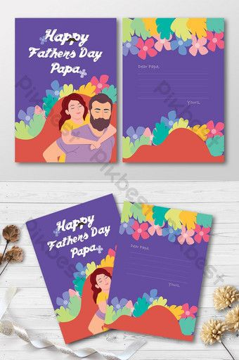 Fathers Day Print Ready Greeting Card Psd Free Download Pikbest Happy Fathers Day Greetings Greeting Card Template Father S Day Greeting Cards
