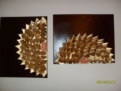 Wall Decor Made From Old Business Cards Diy Art Projects Recycle Craft Projects Deco Mesh Garland