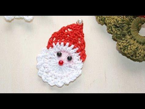 Babbo Natale Alluncinetto Tutorial Karácsonyfa Díszek Crochet
