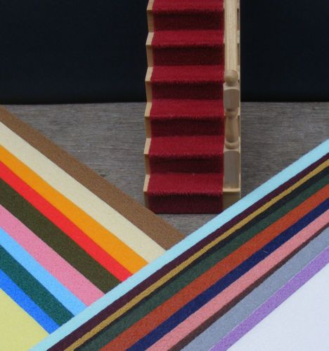 1 12 Scale Self Adhesive Dolls House Miniature Stair Carpet Various Colours Carpet Stairs Carpet Cover Doll House
