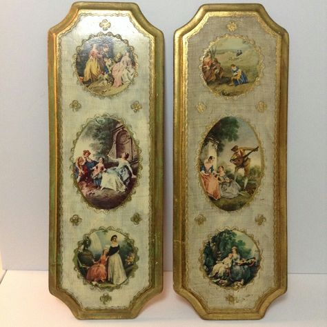 For sale vintage wall art pictures gold trim http://stores.ebay.com ...