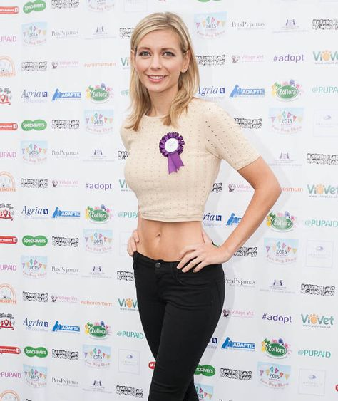 Rachel Riley attends Pup Aid showing off her toned abs
