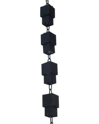 Amazing Sales For Outdoor Patio Decor Rain Chain Black Powder Coat How To Install Gutters