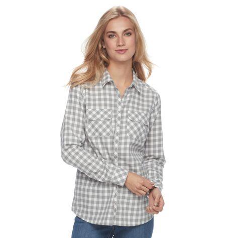 f21d3997de Women s Croft   Barrow® Flannel Plaid Button-Down Shirt