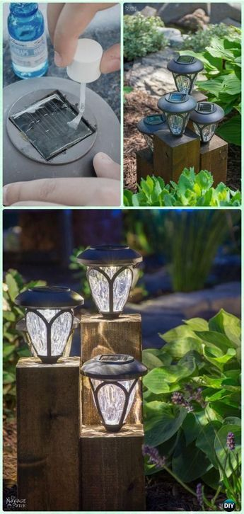 Explore Garden Lighting Ideas On Pinterest See More Ideas About Garden Lighting Garden Lightin Garden Lighting Diy Diy Outdoor Lighting Solar Lights Diy