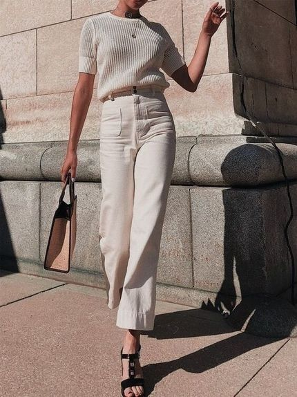 All-white outfit idea #outfitideas #allwhiteoutfit #springstyle