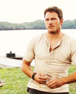 I would say I love the view but I would not know if I was talking about the nature scenery or Owen Grady  Chris Pratt Jurassic World