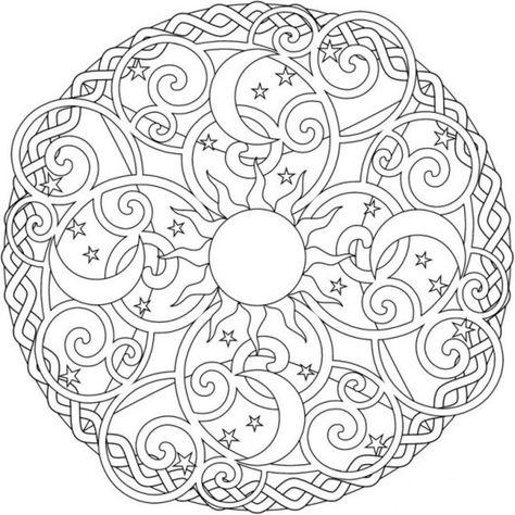 Desen Boyama Sayfalari Boyama Sayfalari Mandala Adult Coloring