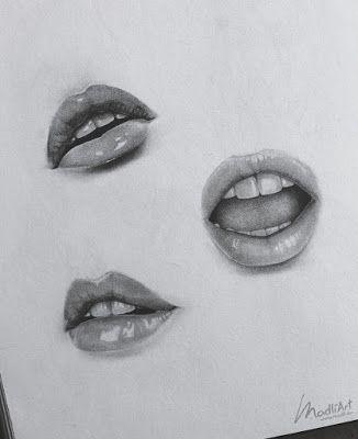 Aprende Como Dibujar Labios A Lapiz Dibujos De Labios Dibujo De Bocetos Boceto De Labios