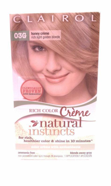 Clairol Natural Instincts 03g Honey Creme Rich Light Golden Blonde