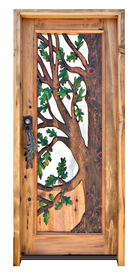 This Is A Seriously Real Oak Door. I LOVE THIS