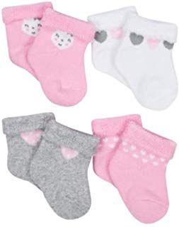 4-Pack Gerber Newborn Baby Boy Ankle Bootie Sock