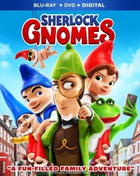 Blu Ray Dvd Sherlock Gnomes Starring James Mcavoy Emily