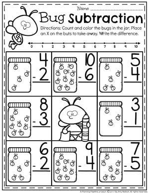 Subtraction Worksheets With Images Kindergarten Subtraction