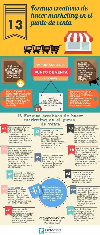 13. Formas Creativas de hacer Marketing en tu Punto de Venta (Infografía)