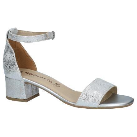 Zilveren Geklede Sandalen Tamaris   Zilveren sandalen