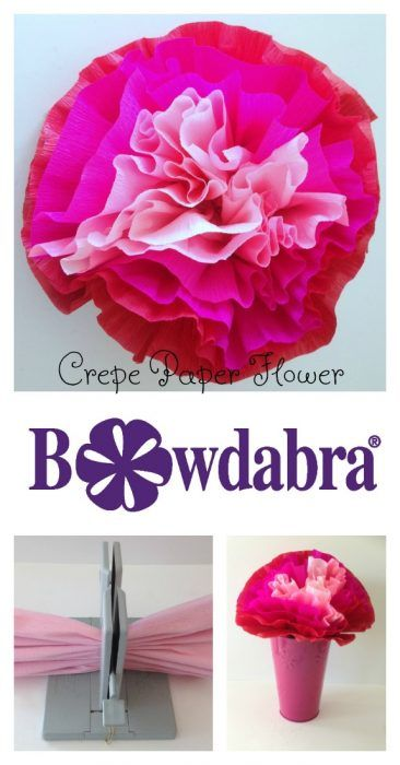 How To Make Vibrant Bowdabra Crepe Paper Flowers Bowdabra Craft