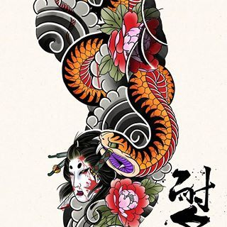One Picture One Artist Irezumi Sketches Instagram Photos And Videos Traditional Japanese Tattoo Sleeve Traditional Japanese Tattoos Japanese Tattoo