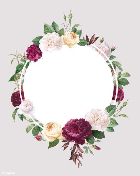 Floral wedding invitation mockup illustration | premium image by rawpixel.com