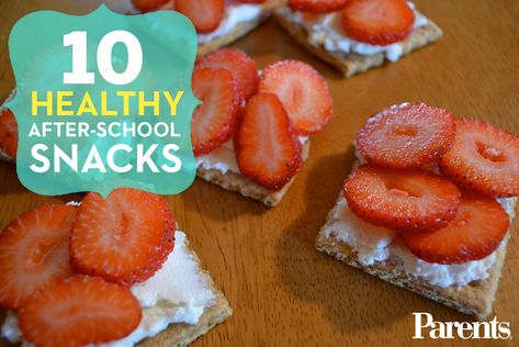These smart and nutritious #snacks are sure to satisfy your kid's post-playground hunger without ruining his appetite for dinner.
