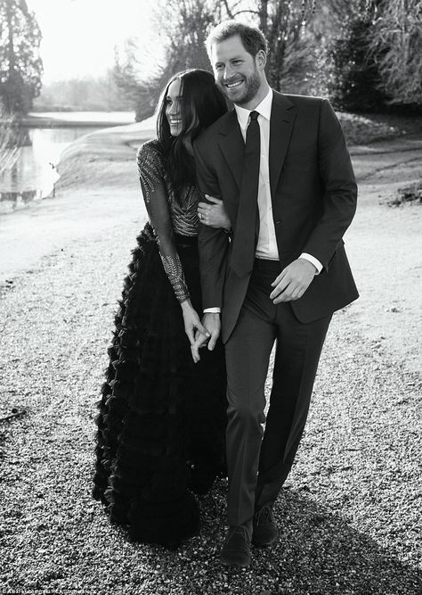 Mr Lubomirski's bold use of black and white and British winter light won him more plaudits... #meghanmarkle #princeharry